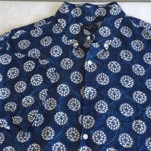 Club Monaco blue white slim fit shirt